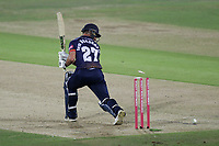 Ryan ten Doeschate of Essex is bowled out by Calum Haggett during Kent Spitfires vs Essex Eagles, Vitality Blast T20 Cricket at the St Lawrence Ground on 2nd August 2018