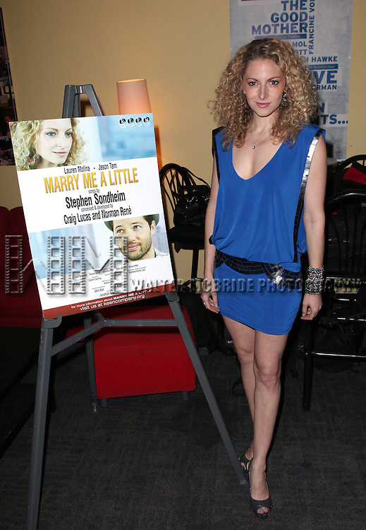 Lauren Molina  attend the opening night performance reception for the Keen Company production of Marry Me A Little at the Clurman Theatre in New York City on10/2/2012.