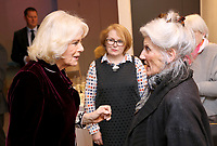 06 February 2019 - Camilla Duchess of Cornwall and Phyllida Law attend a reception to launch the the Glorious Grandparents initiative at Unicorn Theatre in London. Photo Credit: ALPR/AdMedia