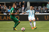 Seattle, WA - Tuesday June 14, 2016: Victor Cuesta during a Copa America Centenario Group D match between Argentina (ARG) and Bolivia (BOL) at CenturyLink Field.