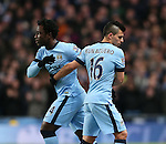 Wilfried Bony of Manchester City makes his debut in place of Sergio Aguero of Manchester City - Barclays Premier League - Manchester City vs Newcastle Utd - Etihad Stadium - Manchester - England - 21st February 2015 - Picture Simon Bellis/Sportimage