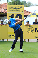 Greame McDowell (NIR) on the 10th tee during Round 3 of the Maybank Malaysian Open at the Kuala Lumpur Golf & Country Club on Saturday 7th February 2015.<br /> Picture:  Thos Caffrey / www.golffile.ie