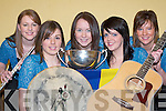 BALLADS: The Glenflesk ballad group that won the Munster Finals of Scor na nOg in Mallow on Sunday L-r: Lorraine Doyle, Joanne Moynihan, Tracy Kelly, Michelle OCallaghan and Mairead Cashman.