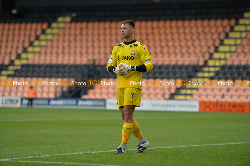 barnets keeper jamie stephens during Barnet vs West Ham United, Friendly Match Football at the Hive Stadium on 15th July 2017