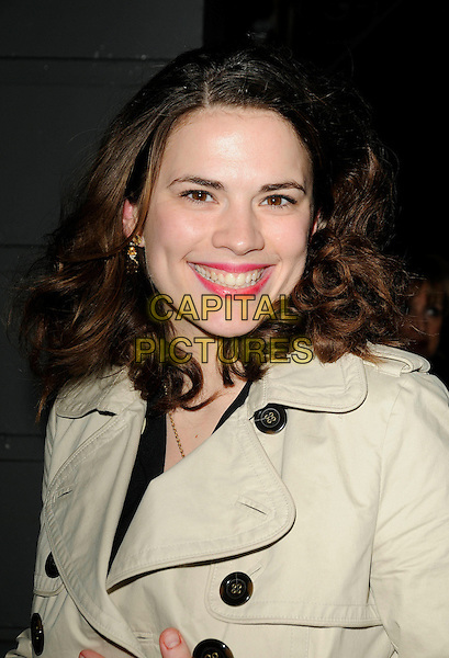 "HAYLEY ATWELL .At the  ""A View From The Bridge"" Press Night, Duke Of York's Theatre, London, England, February 5th 2009..portrait headshot smiling .CAP/CAN.©Can Nguyen/Capital Pictures"