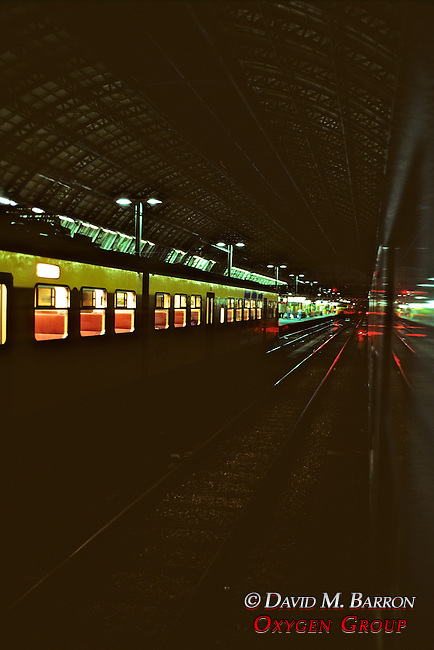 Inside Train Station At Night