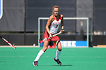 02 October 2016: Boston's Kara Enoch. The Duke University Blue Devils hosted the Boston University Terriers at Jack Katz Stadium in Durham, North Carolina in a 2016 NCAA Division I Field Hockey match. Duke won the game 2-1.