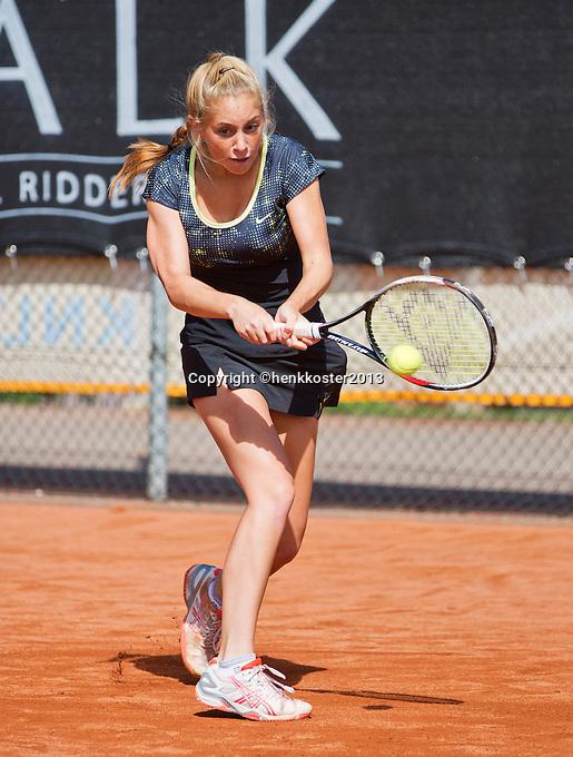 08-08-13, Netherlands, Rotterdam,  TV Victoria, Tennis, NJK 2013, National Junior Tennis Championships 2013, Britt Schreuder  <br /> <br /> <br /> Photo: Henk Koster