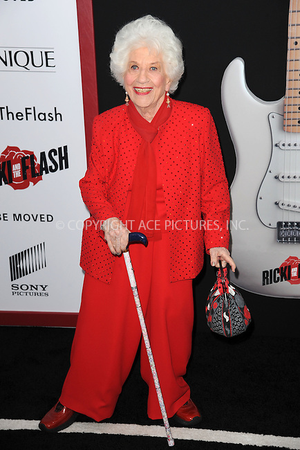 WWW.ACEPIXS.COM<br /> August 3, 2015 New York City<br /> <br /> Charlotte Rae attending the New York premiere of 'Ricki And The Flash' at AMC Lincoln Square Theater on August 3, 2015 in New York City.<br /> <br /> Credit: Kristin Callahan/ACE <br /> <br /> <br /> Tel: (646) 769 0430<br /> e-mail: info@acepixs.com<br /> web: http://www.acepixs.com