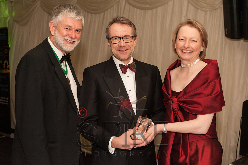 The Nottinghamshire Law Society Barrister of the Year Philip Turton (centre) presented by Adrienne Lucking, QC of 36 Bedford Row and Society President Richard Nelson