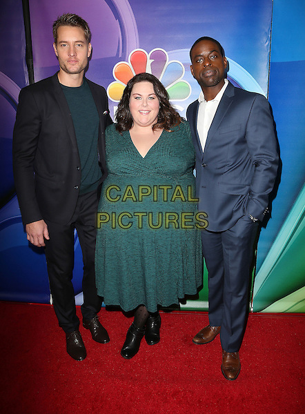 18 January 2017 - Pasadena, California - Justin Hartley, Chrissy Metz, Sterling K. Brown. 2017 NBCUniversal Winter Press Tour held at the Langham Huntington Hotel. <br /> CAP/ADM/FS<br /> &copy;FS/ADM/Capital Pictures
