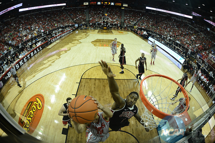 16 MAR 2013: The University of Nevada-Las Vegas takes on the University of New Mexico during the Mountain West Conference Men's Basketball Tournament held at the Thomas & Mack Center in Las Vegas, NV.  Peter Lockley/NCAA Photos