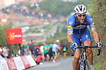 Philippe Gilbert (BEL) Deceuninck-Quick Step attacks on the final climb during Stage 12 of La Vuelta 2019 running 171.4km from Circuito de Navarra to Bilbao, Spain. 5th September 2019.<br /> Picture: Luis Angel Gomez/Photogomezsport | Cyclefile<br /> <br /> All photos usage must carry mandatory copyright credit (© Cyclefile | Luis Angel Gomez/Photogomezsport)