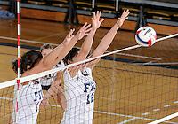 Florida International University women's volleyball player Sabrina Gonzalez (12) plays against Florida Atlantic University.  FIU won the match 3-0 on October 26, 2011 at Miami, Florida. .