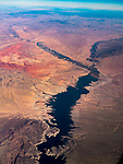 Lake Mead, Nevada, America's flyover country: SMF-LAX-MDW