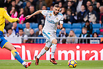 Karim Benzema of Real Madrid in action during the La Liga 2017-18 match between Real Madrid and UD Las Palmas at Estadio Santiago Bernabeu on November 05 2017 in Madrid, Spain. Photo by Diego Gonzalez / Power Sport Images