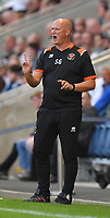 Blackpool's Manager Simon Grayson Shouts to his team during the game<br /> <br /> Photographer Dave Howarth/CameraSport<br /> <br /> Football Pre-Season Friendly - AFC Fylde v Blackpool - Tuesday July 16th 2019 - Mill Farm - Fylde<br /> <br /> World Copyright © 2019 CameraSport. All rights reserved. 43 Linden Ave. Countesthorpe. Leicester. England. LE8 5PG - Tel: +44 (0) 116 277 4147 - admin@camerasport.com - www.camerasport.com