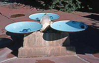 F.L. Wright: Taliesen West. Small fountain with floating spheres.  Photo '77.
