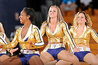 21 January 2012:  FIU's Golden Dazzlers entertain the crowd during half-time as the Florida Atlantic University Owls defeated the FIU Golden Panthers, 50-49, at the U.S. Century Bank Arena in Miami, Florida.