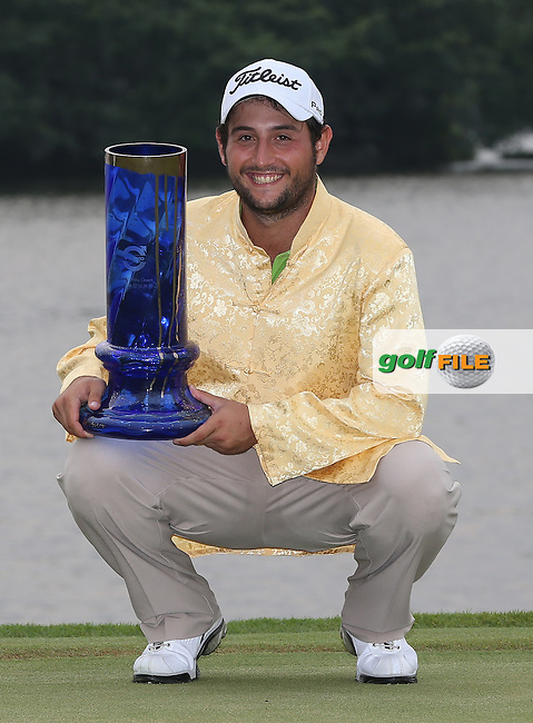 ALEXANDER LEVY (FRA) wins the Final Round and is the Champion Golfer of the 2014 Volvo China Open, Genzon Golf Club, Shenzhen, China. Picture:  David Lloyd / www.golffile.ie