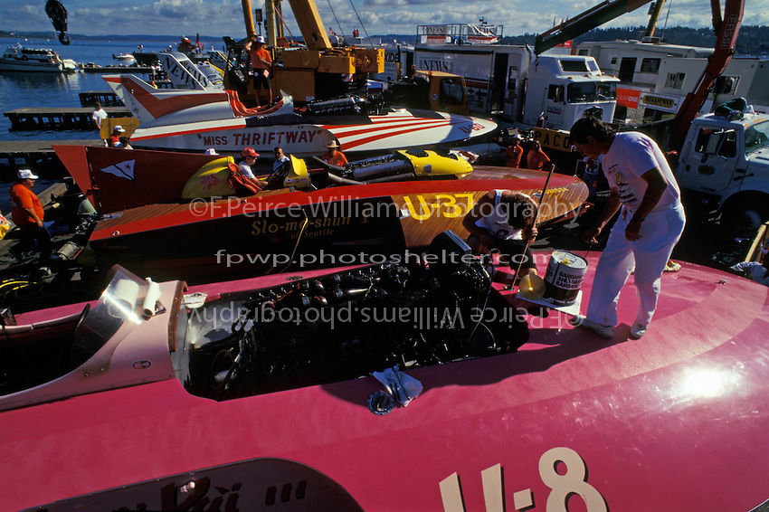 "U-8 ""Hawaii Kai"", U-37 ""Slo-mo-shun V"" and U-60 ""Miss Thriftway"" (3rd), Seattle, WA 1994"