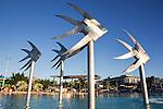 Fish sculpture at the Esplanade lagoon in Cairns, Queensland, AUSTRALIA.