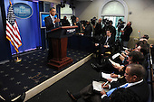 United States President Barack Obama discusses the 2011 budget impasse with Congress during a quick press conference in the Brady Press Briefing Room of the White House in Washington on Tuesday, April 5, 2011. If Republican and Democratic legislators can not agree on a budget in the next few days the federal government faces a shutdown.   .Credit: Roger L. Wollenberg / Pool via CNP