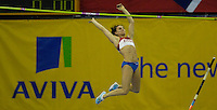 Photo: Ady Kerry/Richard Lane Photography..Aviva Grand Prix. 21/02/2009. .Yelana Isinbayeva fails to clear the bar in the pole vault