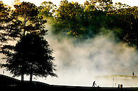 Early morning fog comes of the ponds at the  Quail Hollow Championship at Quail Hollow Country Club on May 2, 2010 in Charlotte, North Carolina.  The event, formerly called the Wachovia Championship, is a top event on the PGA Tour, attracting such popular golf icons as Tiger Woods, Vijay Singh and Bubba Watson. Photo from the final round in the Quail Hollow Championship golf tournament at the Quail Hollow Club in Charlotte, N.C., Sunday , May 03, 2009..