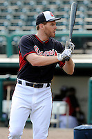 First baseman Freddie Freeman (5) of the Atlanta Braves before a Spring Training game against the New York Yankees on Wednesday, March 18, 2015, at Champion Stadium at the ESPN Wide World of Sports Complex in Lake Buena Vista, Florida. The Yankees won, 12-5. (Tom Priddy/Four Seam Images)