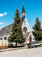 The St. George Episcopal Church in Leadville, Colorado, Thursday, May 11, 2017. Leadville, which has historically been a home for low income residents who work in higher income towns, is beginning to see signs of development and high prices.<br /> <br /> Photo by Matt Nager