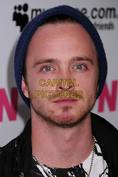 AARON PAUL.Nylon Magazine and MySpace Celebrate their 3rd Annual Music Issue, Hollywood, California, USA..June 3rd, 2008.headshot portrait stubble facial hair hat .CAP/ADM/BP.©Byron Purvis/AdMedia/Capital Pictures.