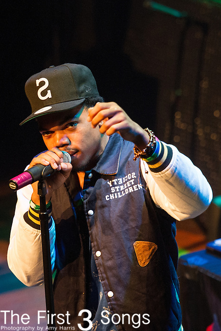 Chance The Rapper (Chancelor Bennett) performs at the House of Blues in Cleveland, Ohio.