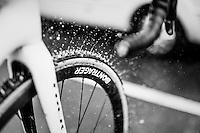 Lars van der Haar's (NED/Telenet-Fidea) post-race bike clean<br /> <br /> elite men's race<br /> CX Superprestige Noordzeecross <br /> Middelkerke / Belgium 2017