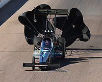 Feb 24, 2018; Chandler, AZ, USA; NHRA top fuel driver Scott Palmer during qualifying for the Arizona Nationals at Wild Horse Pass Motorsports Park. Mandatory Credit: Mark J. Rebilas-USA TODAY Sports
