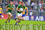 Declan O'Sullivan, Kerry in action against Martin McMahon, Clare in the Munster Senior Championship Semi Final in Cusack Park, Ennis on Sunday.