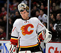 MIKKA KIPRUSOFF,  of the Calgary Flames in action  during the Flames  game against the Chicago Blackhawks at the United Center in Chicago, IL.  The Chicago Blackhawks beat the Calgary Flames 4-2 in Chicago, Illinois on December 5, 2011....