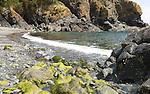 Rocky cove at Cadgwith, Lizard peninsula, Cornwall, England, UK