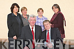 ..MINISTER: The Minister of State to the Department of Health John Moloney TD was welcomed by The principle of Killahan National School, Abbeydorney Gerard Doyle on Tuesday. Back l-r: Ann Neenan (HSE), Mary Nolan (secretary), Marie O'Sullivan and Bri?d Leonard (Teachers)......   Copyright Kerry's Eye 2008