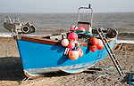 Fishing boats, Sizewell beach, Suffolk, England