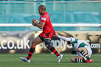 Apakuki MA'AFU of Jersey Reds during the Greene King IPA Championship match between Ealing Trailfinders and Jersey Reds at Castle Bar , West Ealing , England  on 22 December 2018. Photo by David Horn.