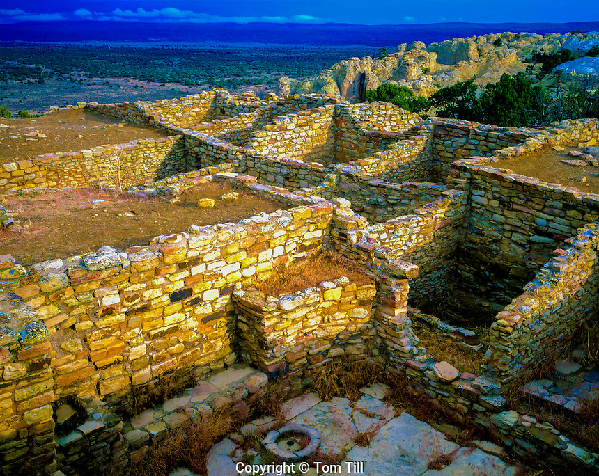 Atsinna ruin, El Morros National Monument, New Mexico, Sacred as ancestral puebelo of Zuni, Atop El Morro Rock