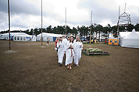 Early in the morning some Scouts from the Swedish contingent where having a Lucia ceremony. Photo: Jonas Elmqvist