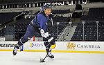 NASHVILLE: OCTOBER 27, 2010 -- Shea Weber --   Nashville Predators defenseman Shea Weber takes slapshots to have his shot analyzed on Wednesday, October 27, 2010. Photo by Frederick Breedon for National Post