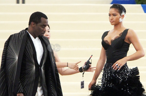 NEW YORK, NY May 01, 2017 Sean Combs, Cassie  attend  The Metropolitan Museum of Art Costume Institute Benefit Gala for Rei Kawakubo Comme des Garcons at  Metropolitan Museum of Art  in New York May 01,  2017. Credit:RW/MediaPunch
