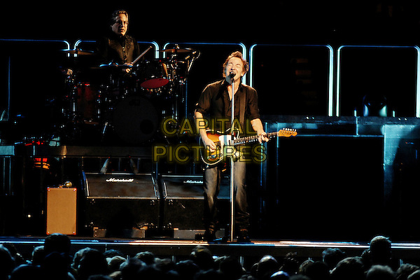 BRUCE SPRINGSTEEN .Bruce Springsteen performs in concert at Copps Coliseum during the Radio Nowhere Tour,  Hamilton, Ontario, Canada, 03 March 2008.live in concert gig on stage performing guitar playing band music.CAP/ADM/BP.©Brent Perniac/Admedia/Capital PIctures