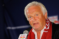 New York Red Bulls head coach Hans Backe during a New York Red Bulls press conference at Red Bull Arena in Harrison, NJ, on August 03, 2010.