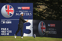 Tom Lewis (ENG) on the 3rd tee during Round 3 of the Sky Sports British Masters at Walton Heath Golf Club in Tadworth, Surrey, England on Saturday 13th Oct 2018.<br /> Picture:  Thos Caffrey | Golffile