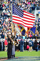 Baltimore, MD - DEC 10, 2016: National Anthem is played before the game between Army and Navy at M&T Bank Stadium, Baltimore, MD. (Photo by Phil Peters/Media Images International)