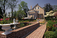 AJ3422, Governor's Mansion, Dover, Delaware, Governor's residence from the garden in Dover in the state of Maryland,
